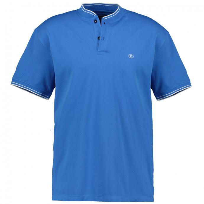 Sportliches Poloshirt mit Collegekragen königsblau_268 | 3XL