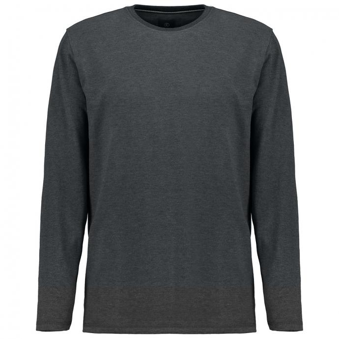 Basic-Langarmshirt grau_5101 | 10XL