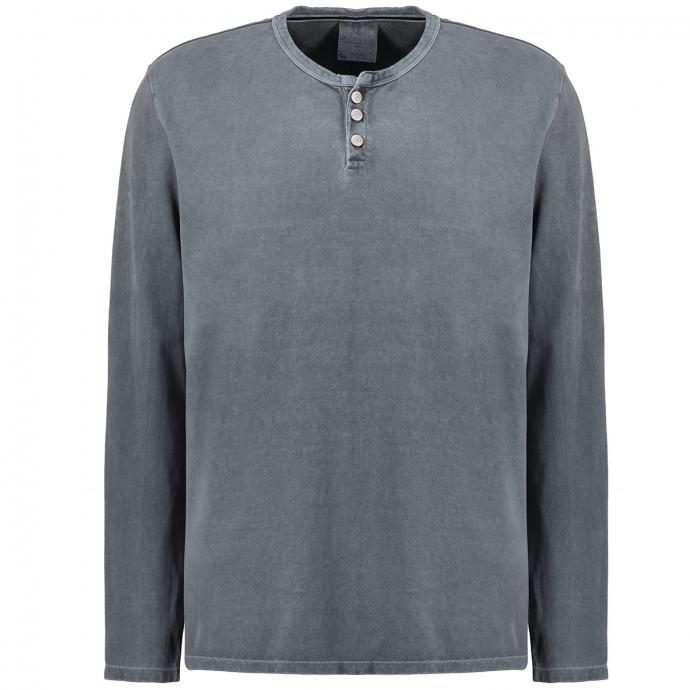 Langarmshirt im Vintagelook blau_2246 | 3XL