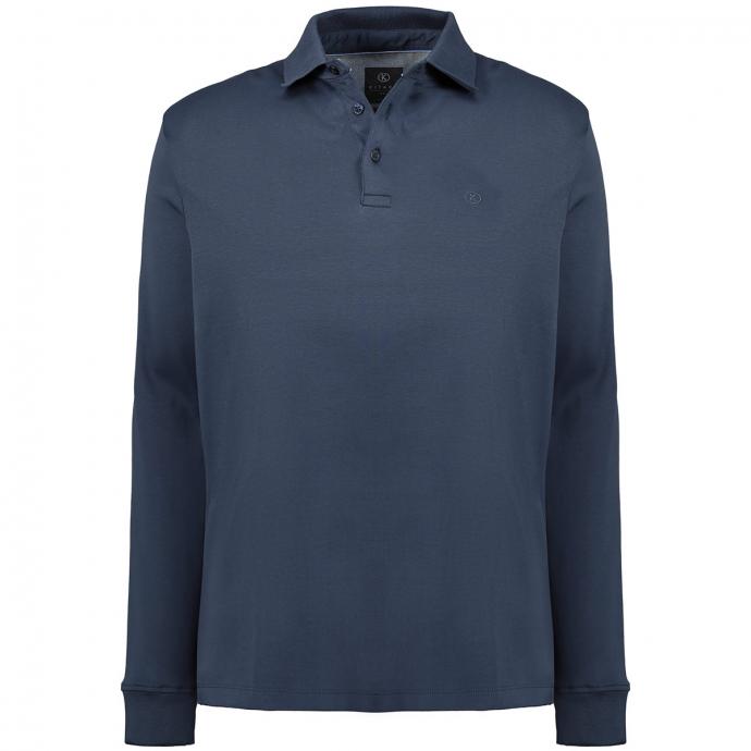 Poloshirt aus Pima Cotton, langarm dunkelblau_210 | 3XL