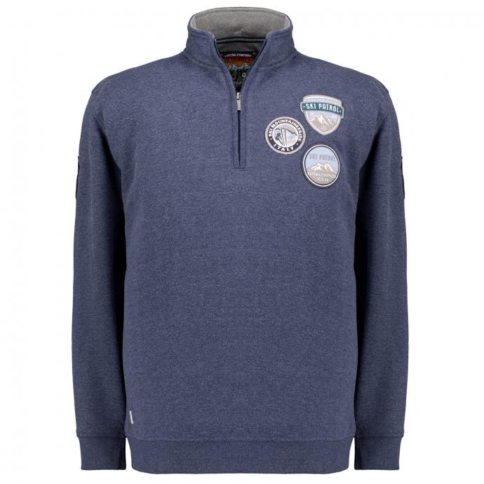 Troyer-Sweatshirt mit alpinen Motiven blau_52246 | 3XL