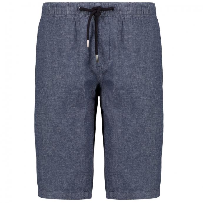 Short im Jeanslook aus Baumwoll-/Leinenmix graublau_56W0/39   3XL