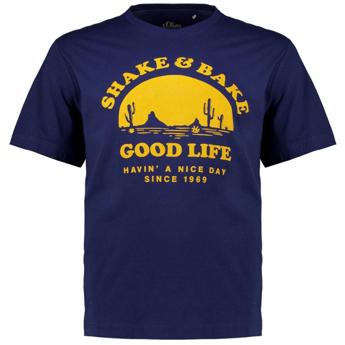 T-Shirt mit Urlaubsmotiv blau_5693 | 3XL