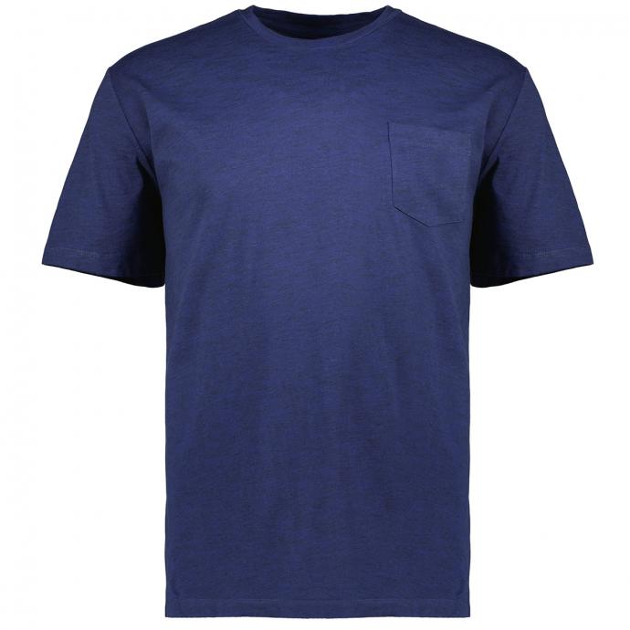 T-Shirt in Flammgarn Optik dunkelblau_56W4 | 3XL
