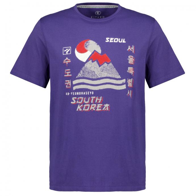 """T-Shirt mit Print """"Seoul"""",  kurzarm blau_10706   3XL"""
