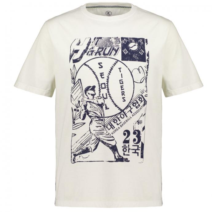T-Shirt mit Vintage-Motiv natur_10102   3XL