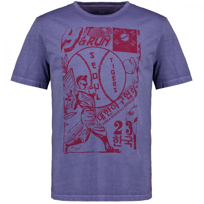 T-Shirt mit Vintage-Motiv blau_10706 | 3XL