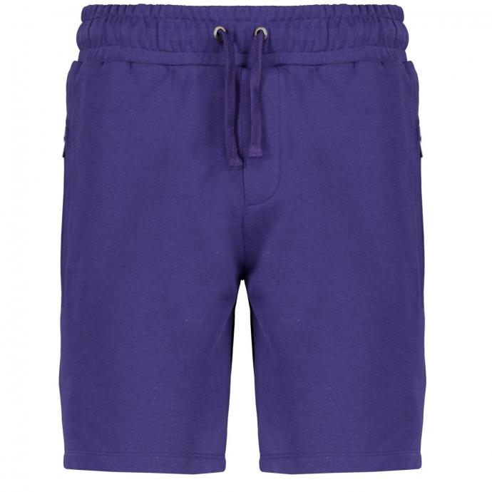 Kurze Jogginghose mit Reißverschlusstaschen blau_10706 | 3XL