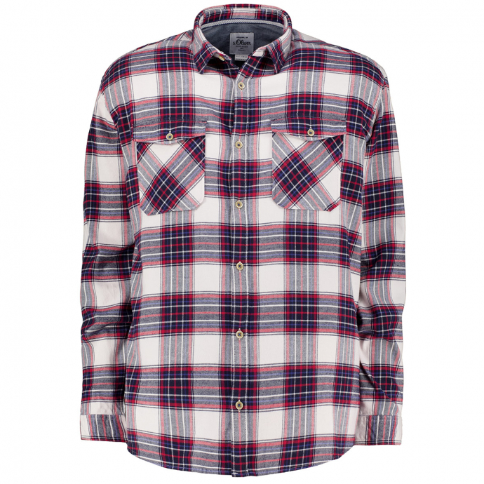 Flanellhemd im Holzfäller-Style blau/rot_03N8 | 3XL