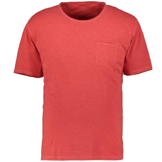 Rundhals-T-Shirt aus Baumwolle rot_44 | 6XL