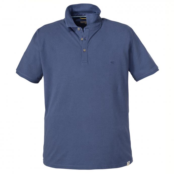 Basic-Poloshirt, kurzarm blau_15/1   6XL