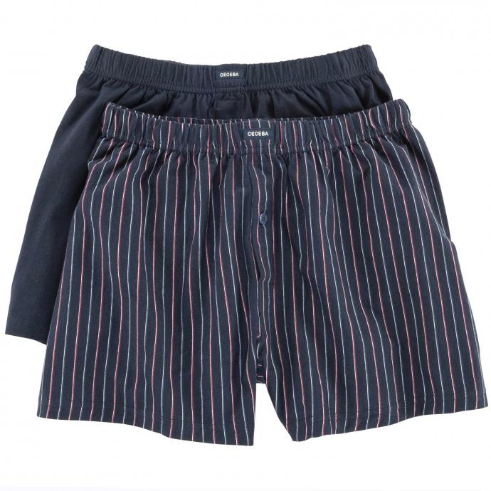 Boxershorts aus Baumwoll-Jersey, Doppelpack blau/rot_2550 | 8