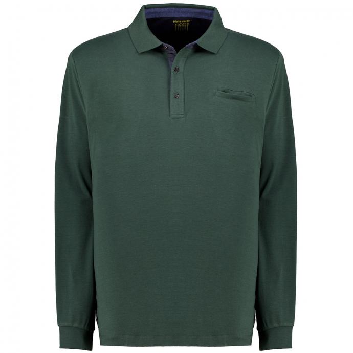 Poloshirt Voyage, langarm dunkelgrün_6002 | 5XL