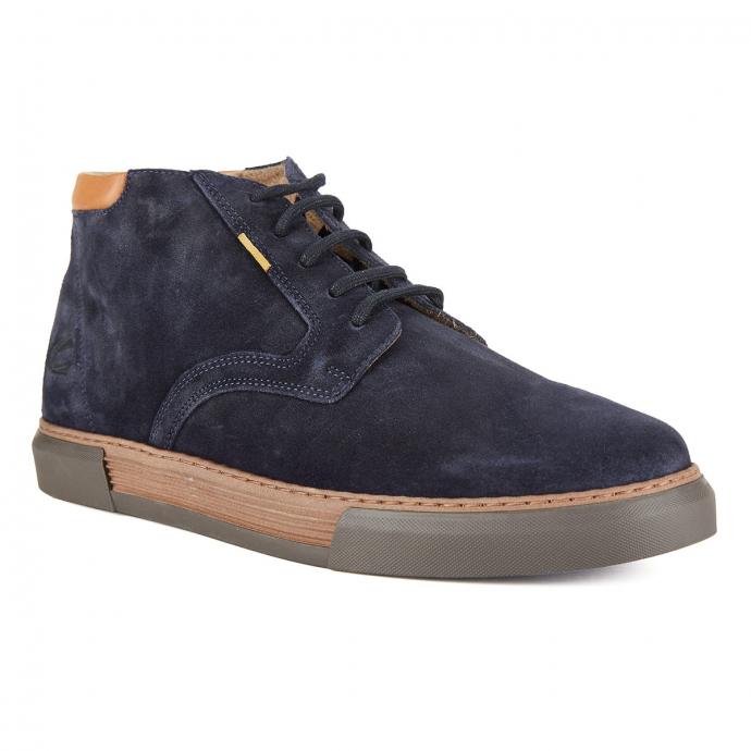 High-Top Sneaker aus Veloursleder dunkelblau_C67 | 47