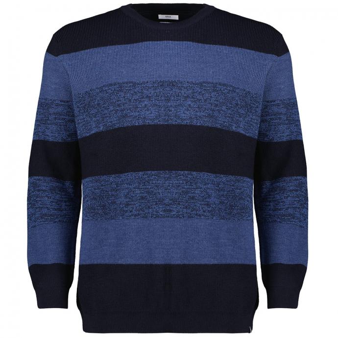 Premium Strickpullover in Merinoqualität blau_22/40   62