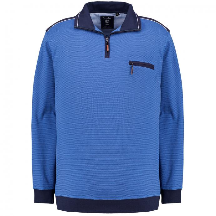 Sweatshirt in stayfresh-Qualität mit Kontrastdetails blau_600 | 3XL