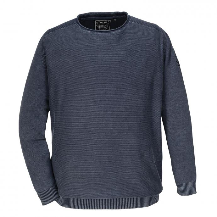 Bequemer Strickpullover aus Baumwolle dunkelblau_609 | 6XL