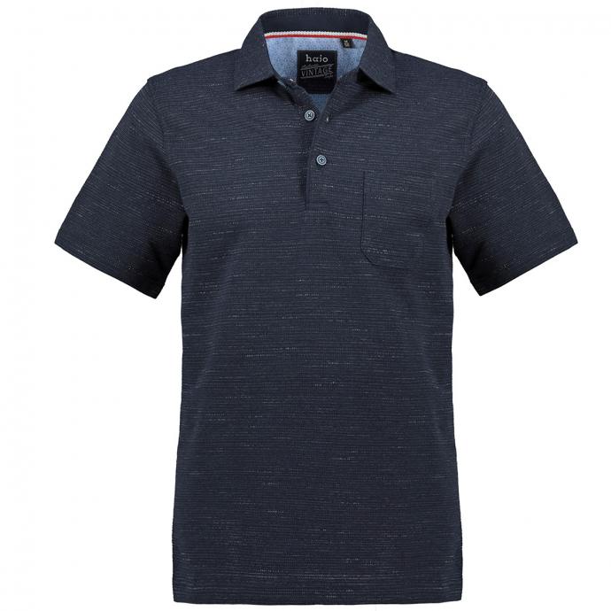 Bügelfreies Shirt mit Hemdkragen in Stay-Fresh Qualität, kurzarm dunkelblau_609   5XL