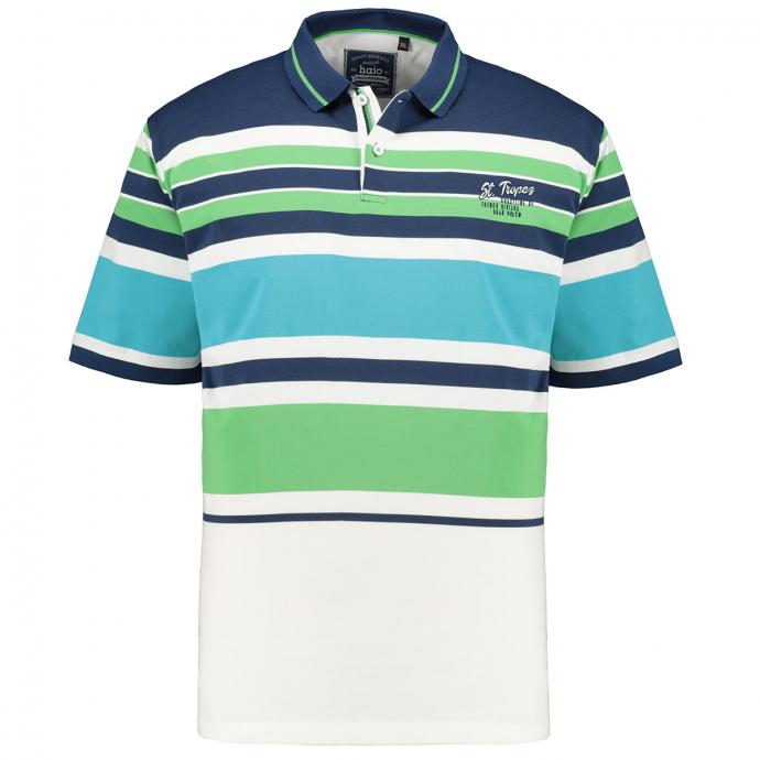 "Poloshirt mit Blockstreifen ""St. Tropez"", kurzarm blau_638   3XL"