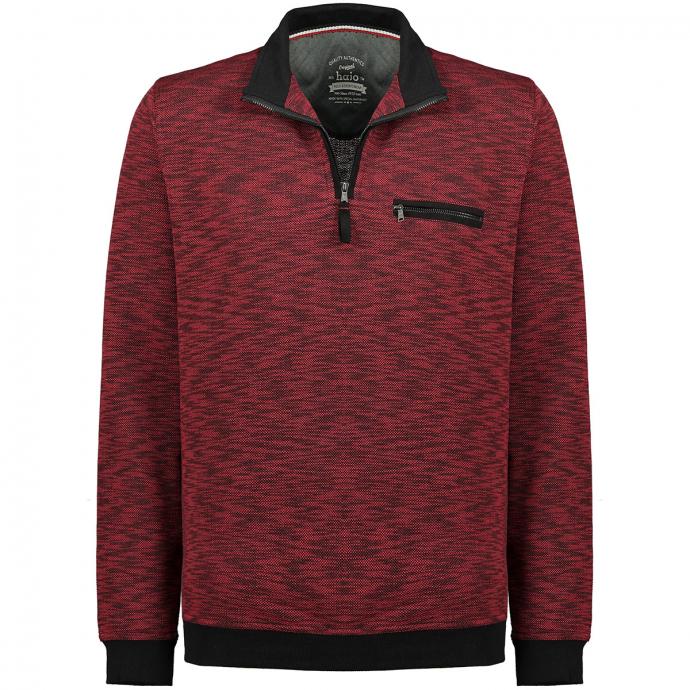 Sweatshirt in Strickoptik und stayfresh-Qualität karmin_300   5XL
