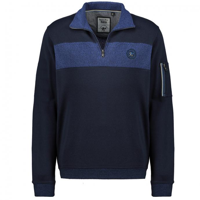 Sweatshirt im Materialmix und stayfresh-Qualität dunkelblau_609   3XL