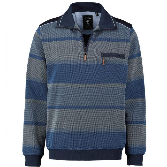 Gestreiftes Sweatshirt in stayfresh-Qualität blau_600 | 3XL