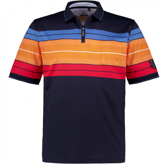 "Poloshirt ""Stay Fresh"" mit Half-Zip, kurzarm dunkelblau_609 | 3XL"