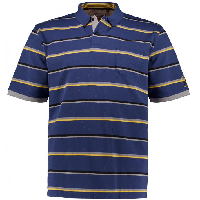 "Gestreiftes Poloshirt ""Stay Fresh"", kurzarm blau_638 | 3XL"