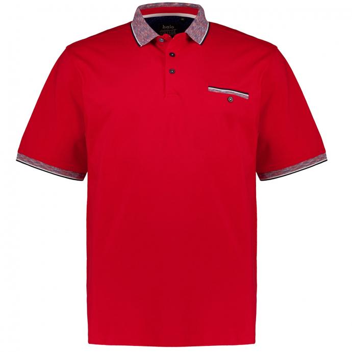 "Poloshirt mit Kontrastdetails ""Stay Fresh"", kurzarm rot_373 | 3XL"