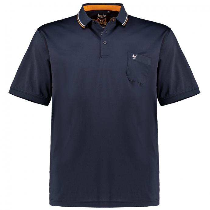 Funktions-Polo mit Brusttasche, kurzarm dunkelblau_609 | 3XL
