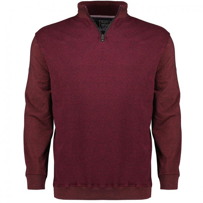 Sweatshirt mit Struktur, bügelfrei dunkelrot_382 | 3XL