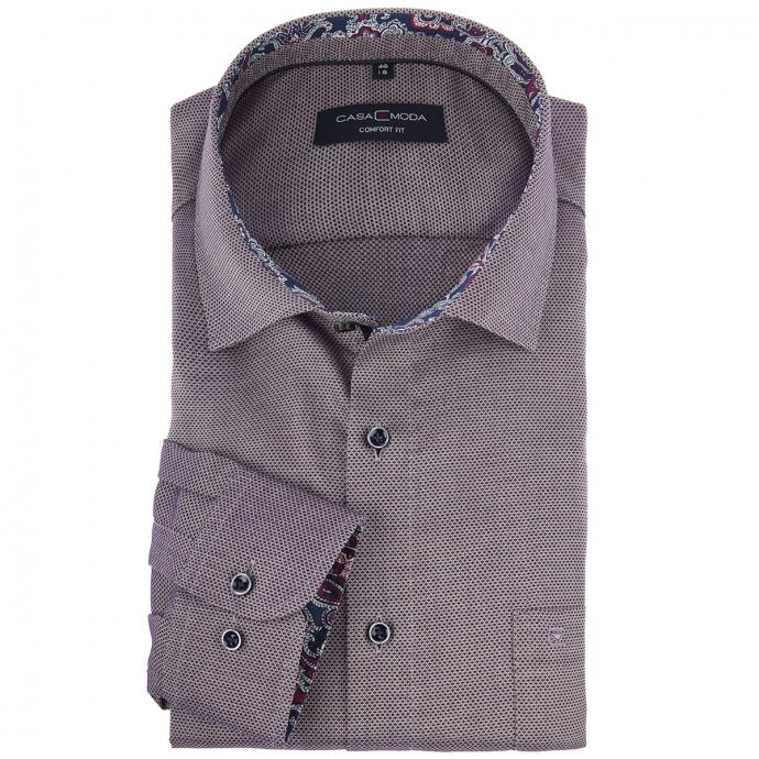 Fein strukturiertes Cityhemd violett_950/80   46