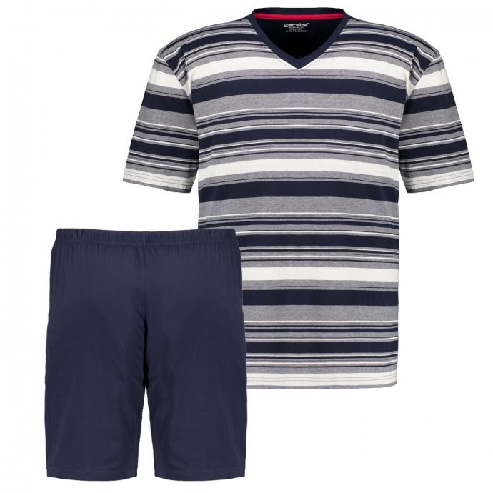 Kurzer Schlafanzug/Shorty aus Baumwoll-Mix blau_8411 | 60/62