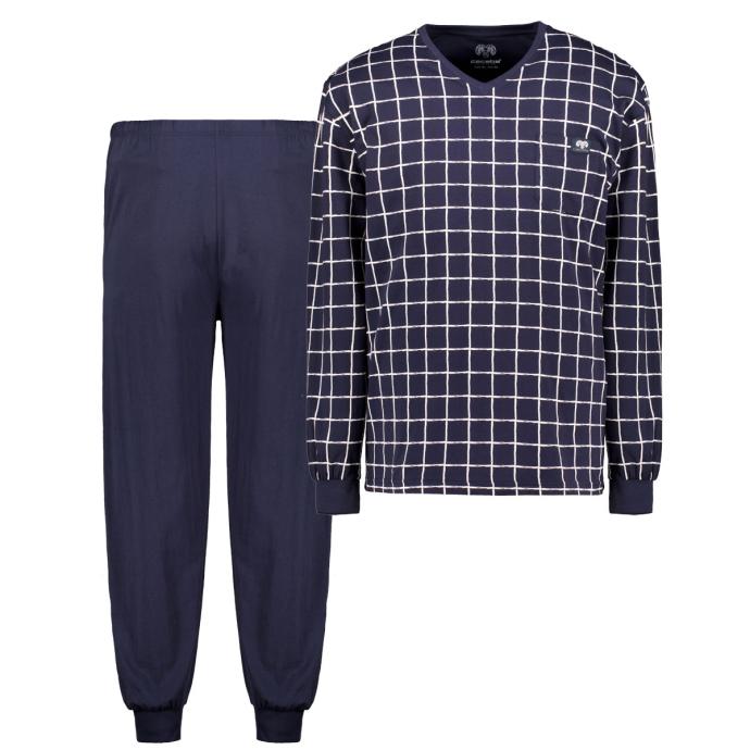 Baumwoll-Pyjama kariert dunkelblau_635 | 60/62