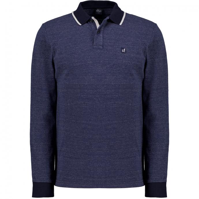 Leichtes Poloshirt, langarm marine_59W0 | 4XL