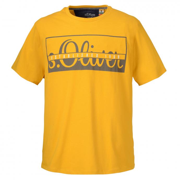 T-Shirt mit s.Oliver Print gelb_1549 | 3XL
