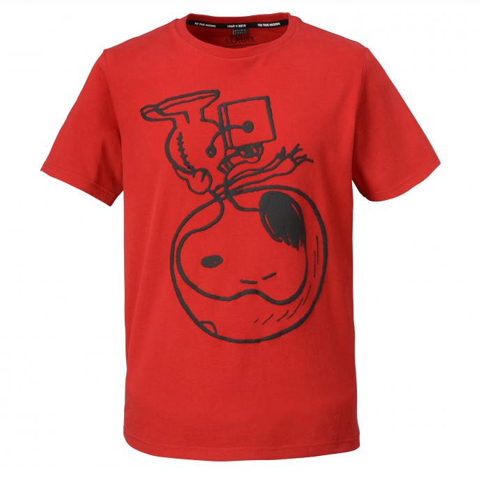 T-Shirt mit großem Snoopy Frontprint rot_3660   3XL