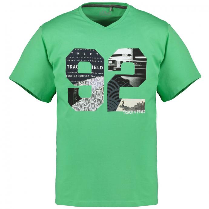 "T-Shirt mit auffälligem ""92""-Print grün_7306 | 3XL"