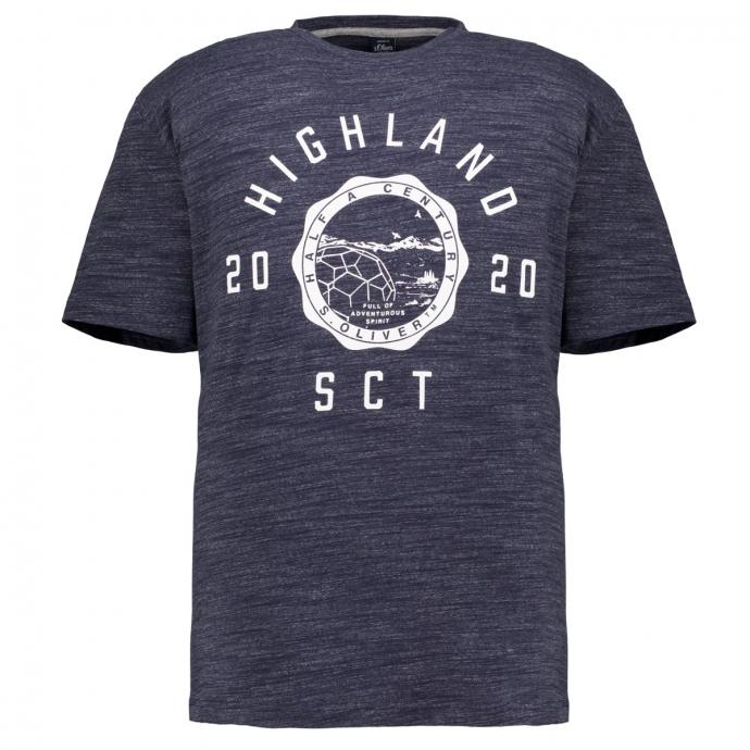 T-Shirt mit Frontprint marine_59W0 | 3XL