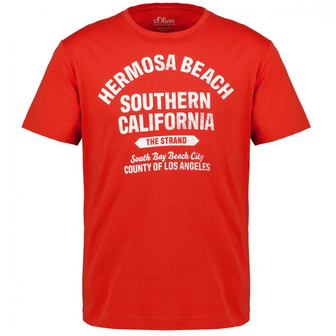 T-Shirt mit Letterprint orange_2461 | 3XL