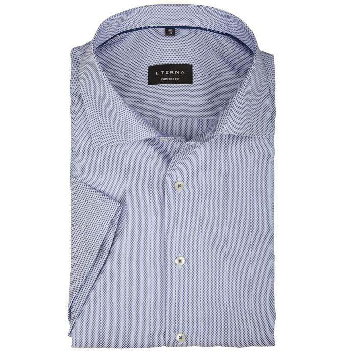 Strukturiertes Businesshemd aus Baumwolle blau_16/40 | 46