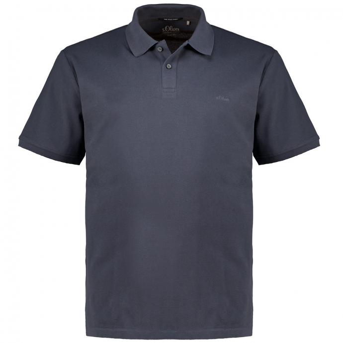 Poloshirt aus Baumwoll-Piqué, kurzarm grau_95A1 | 3XL