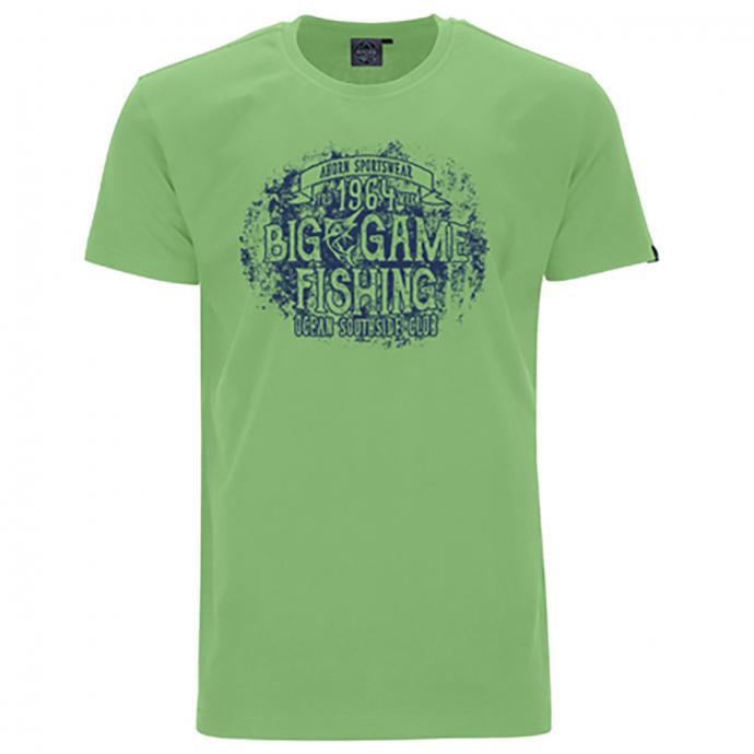 "Lässiges T-Shirt mit ""BIG GAME FISHING"" Print grün_46   5XL"