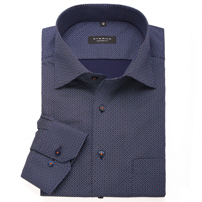 Bügelleichtes Cityhemd, langarm dunkelblau_85/400 | 46