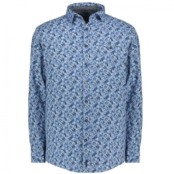Modisches Freizeithemd blau_100   XXL