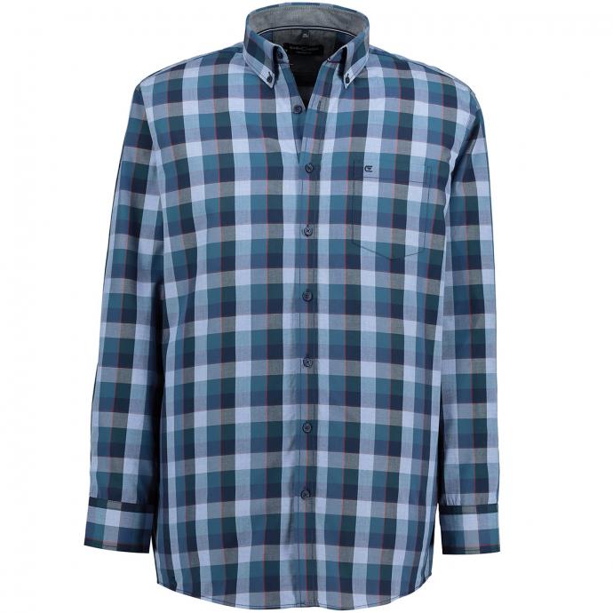 Modisches Freizeithemd blau_100 | XXL