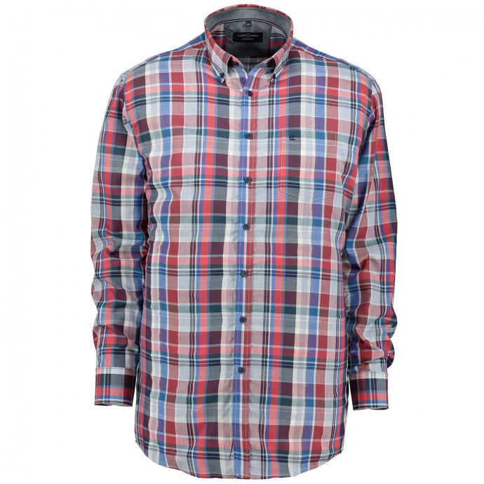 Modisches Freizeithemd blau/grau_100/4030 | XXL