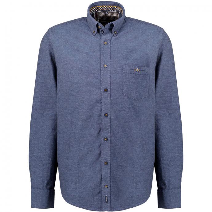Button-Down-Freizeithemd blau_100 | XXL