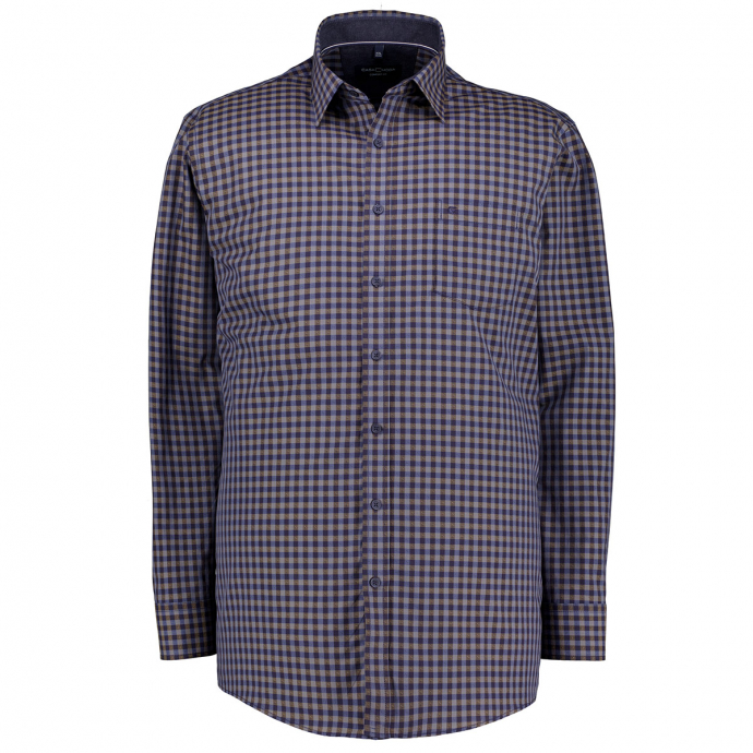 Freizeithemd mit Karomuster blau/grau_100/4030 | XXL
