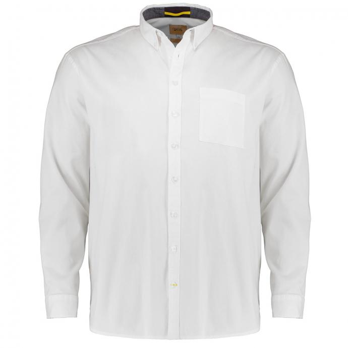 Baumwollhemd mit Stretchanteil, langarm weiß_01   3XL
